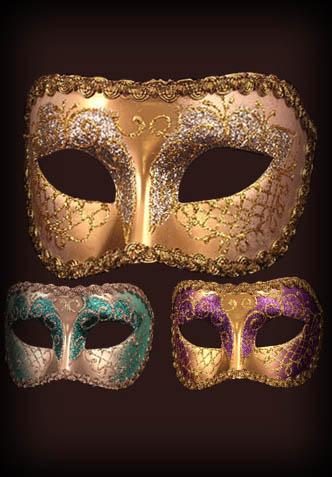 masques vénitiens , loups divers