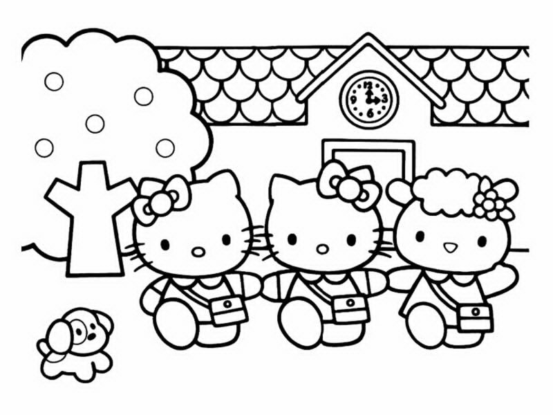 Coloriages hello kitty - Coloriage hello kitty ...