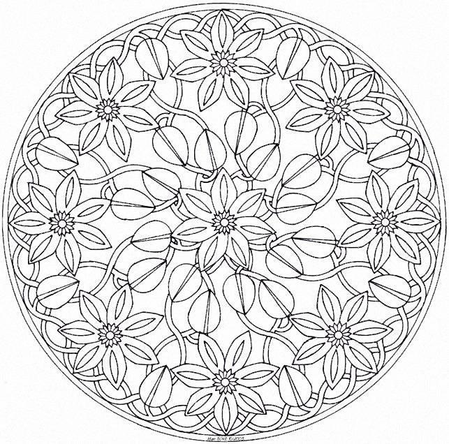Coloriages Mandalas 8 5 X 11 Coloring Pages