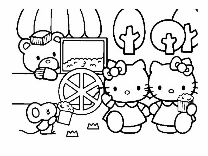 Coloriages hello kitty page 3 - Coloriage hello kitty cirque ...
