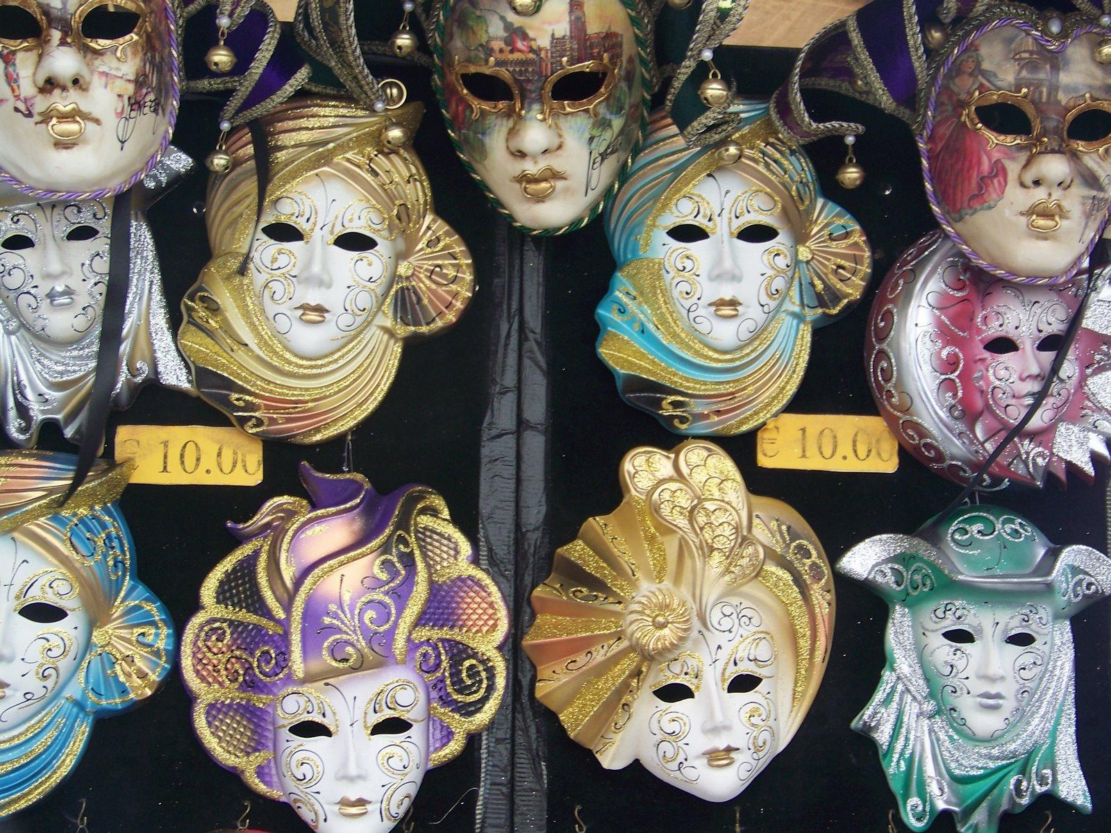 masques vénitiens et loups divers