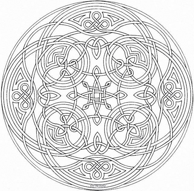 mandala coloring pages complicated love - photo#18
